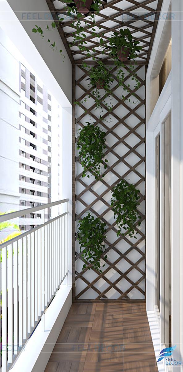 thiết kế nội thất logia chung cư hưng ngân garden