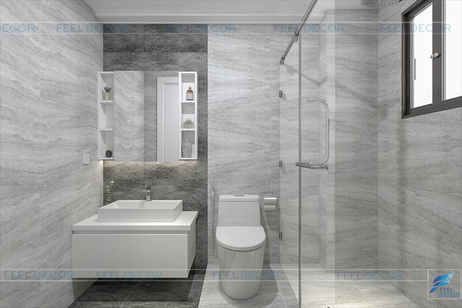 Thiết kế thi công nội thất căn hộ chung cư Miếu Nổi – Chủ đầu tư chị Bình