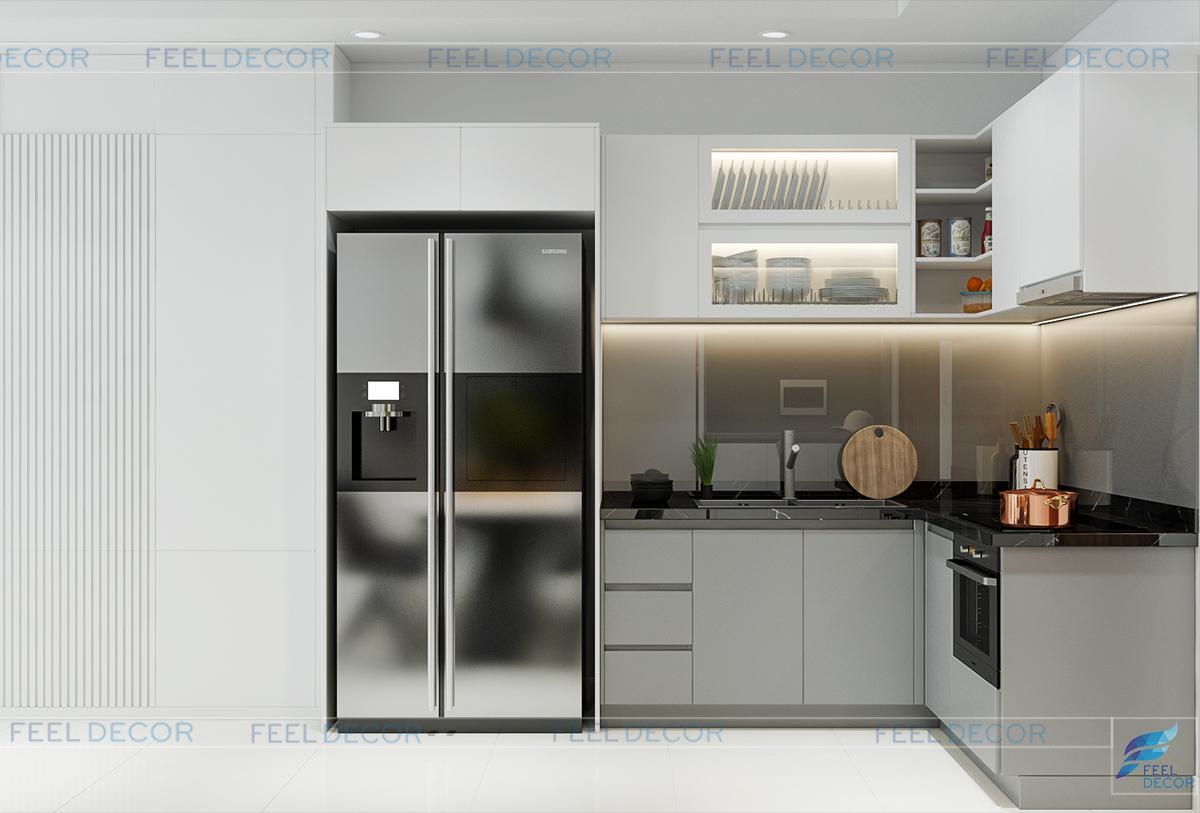 Thiết kế thi công nội thất phòng khách căn hộ The Pegasuite
