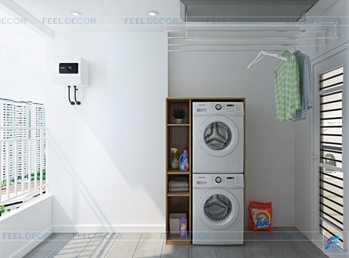 Thiết kế nội thất phòng giặt phơi chung cư The Prince Residences