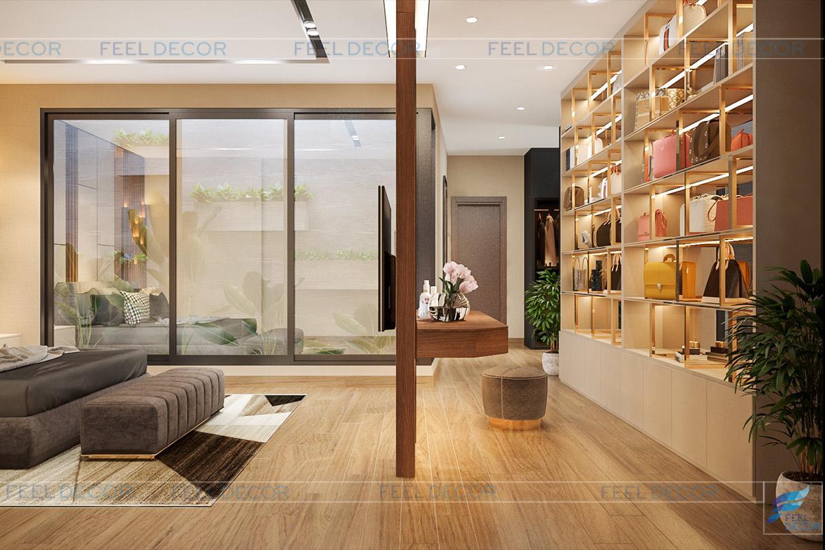 Nội thất phòng ngủ master hiện đại và tiện nghi