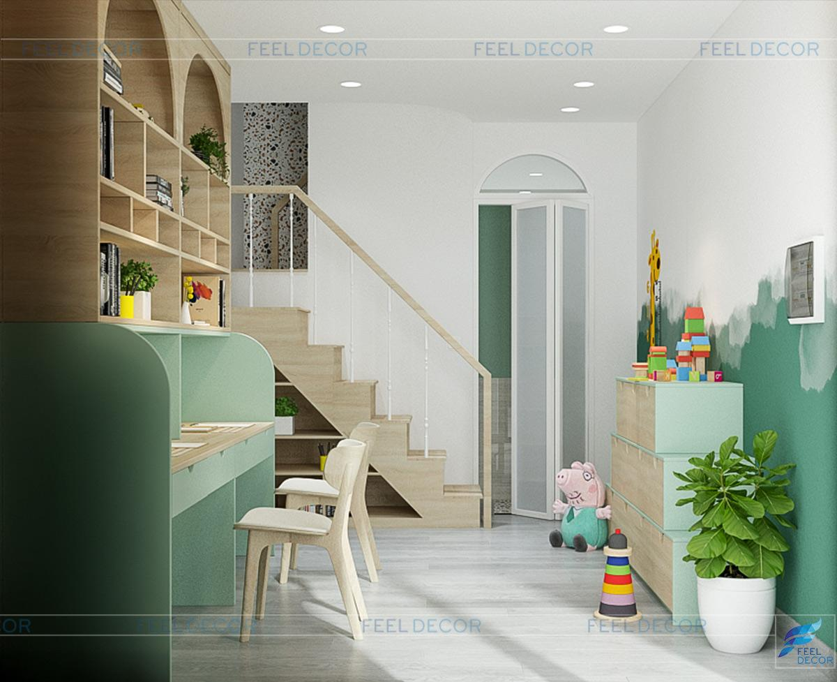 Thiết kế nội thất tầng trệt nhà phố Gò Vấp