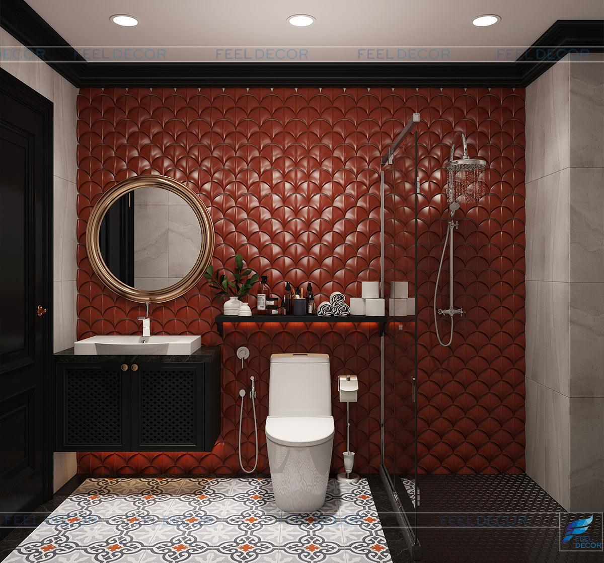 Thiết kế nội thất phòng vệ sinh nhà phố