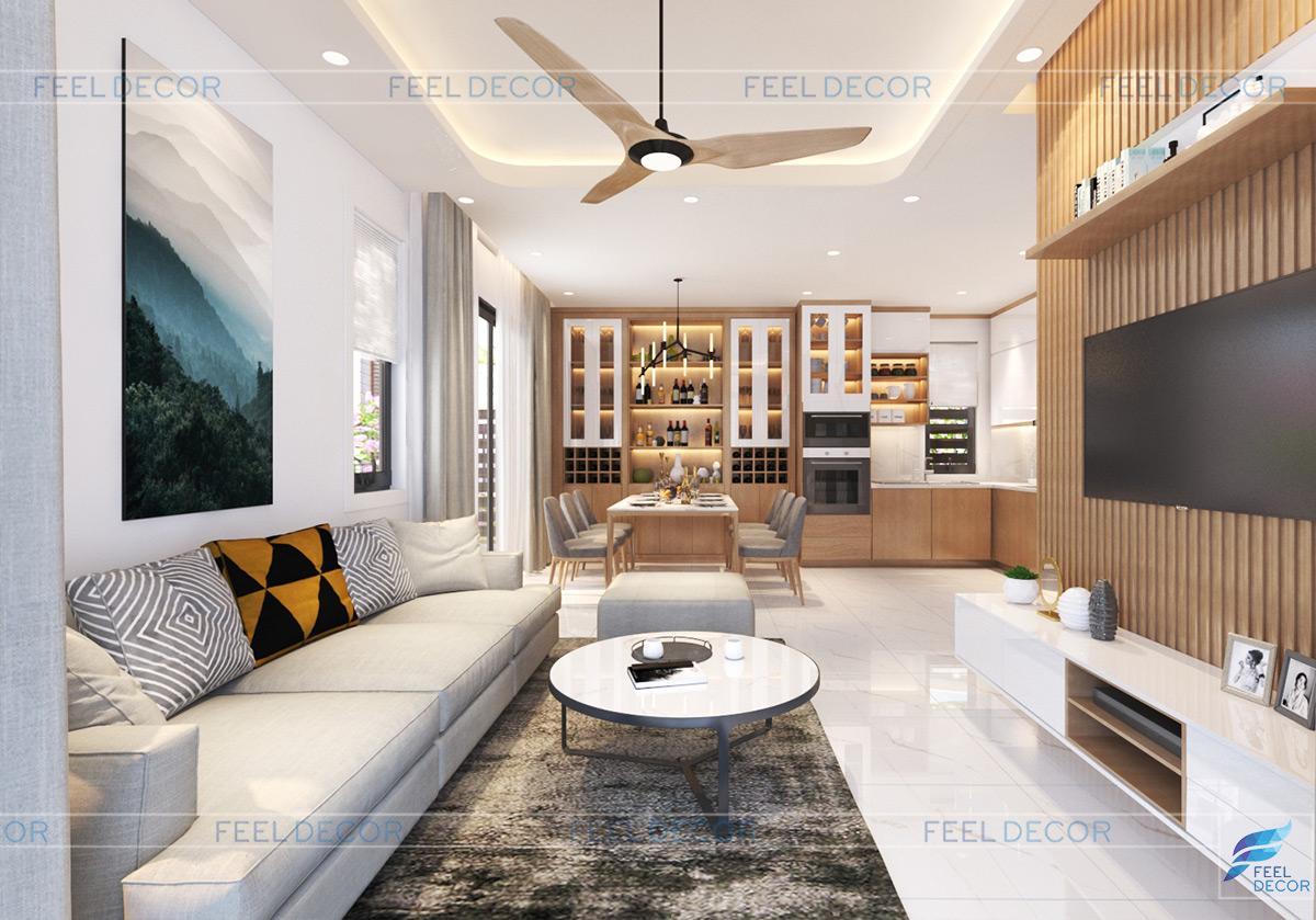 Thiết kế thi công nội thất nhà phố - Chủ đầu tư anh Nguyện
