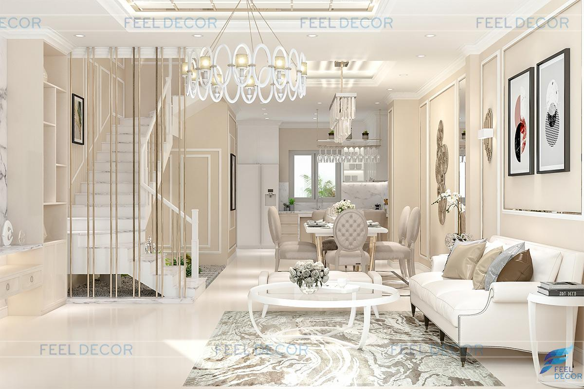 Thiết kế thi công nội thất nhà phố lakeview anh tuấn