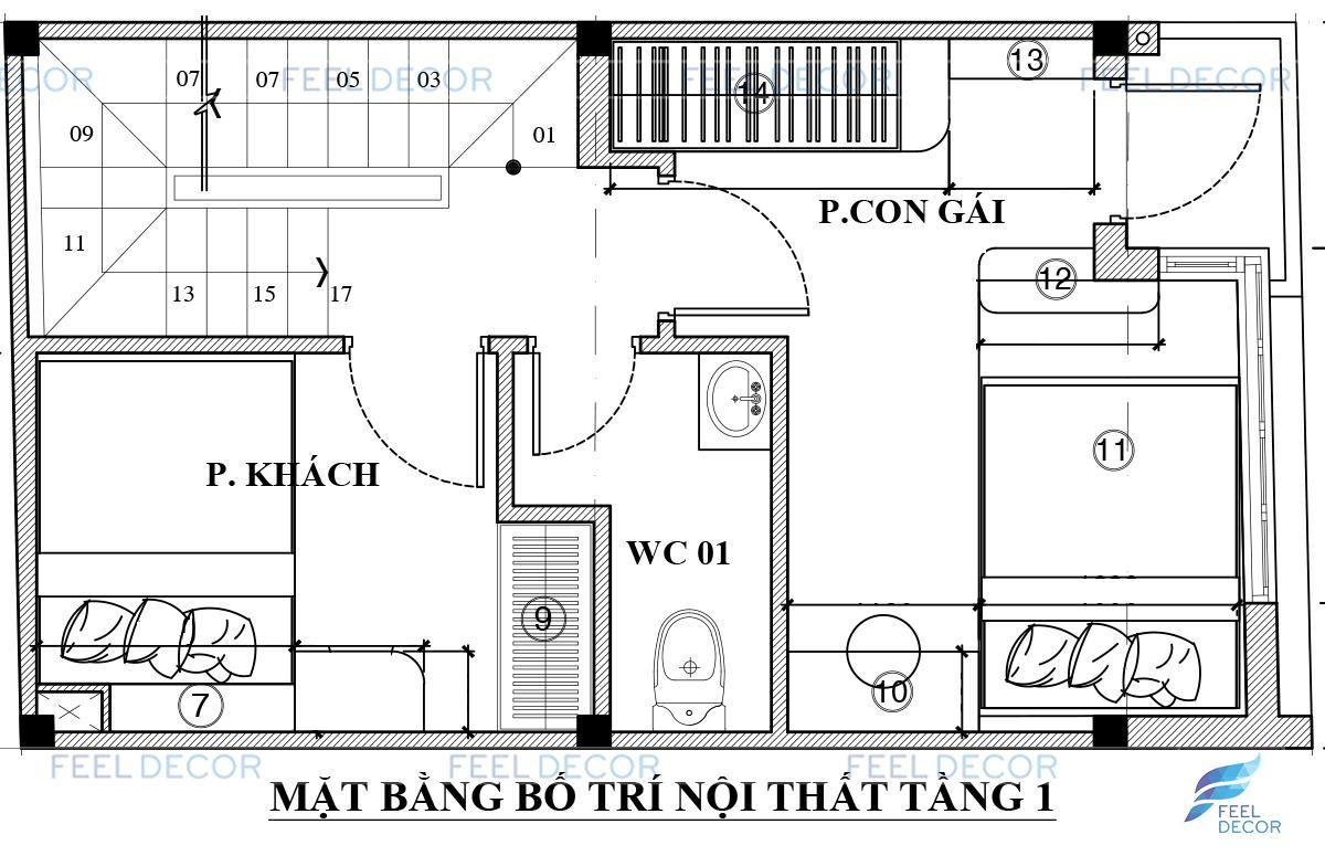 Thiết kế thi công nội thất nhà phố tân phú anh việt
