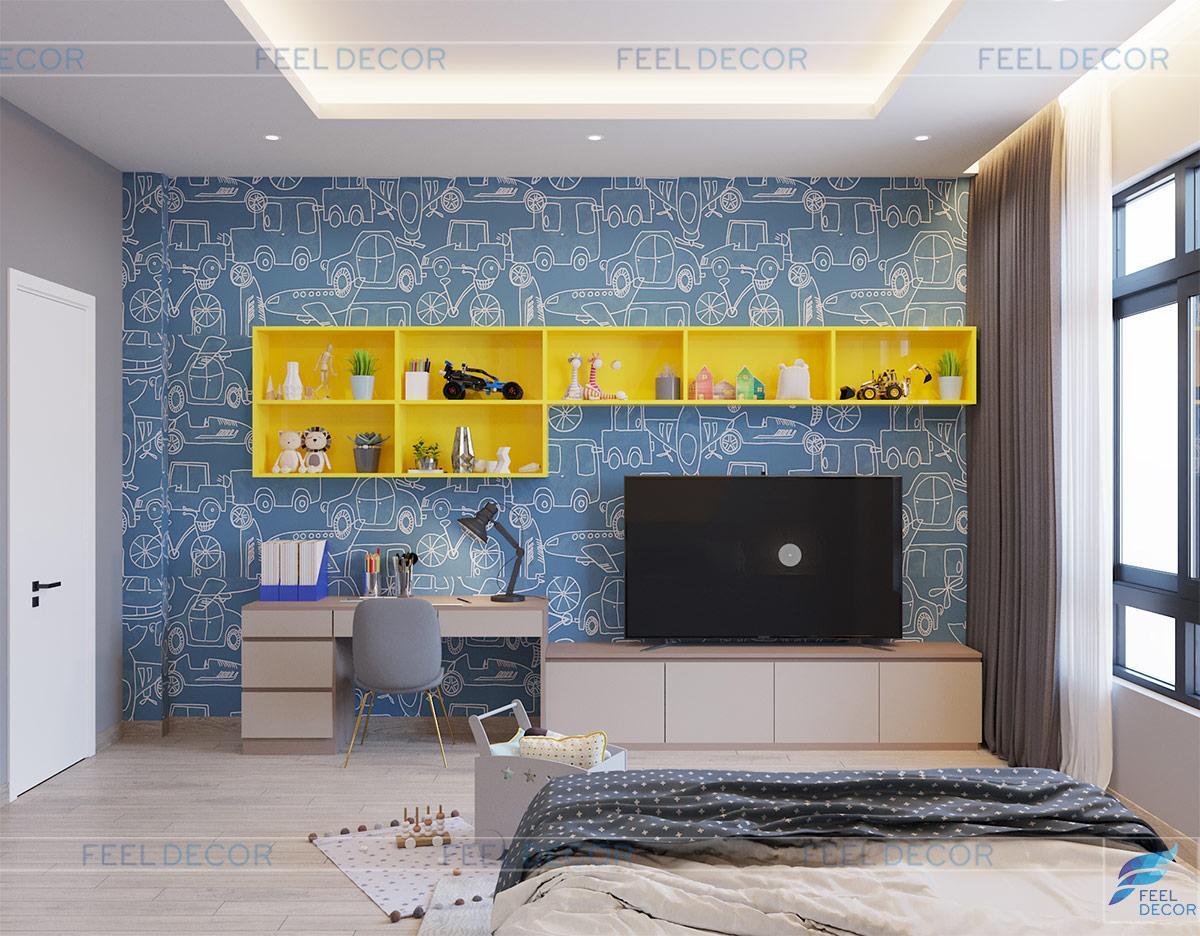 Thiết kế thi công nội thất nhà phố vạn phúc anh thái