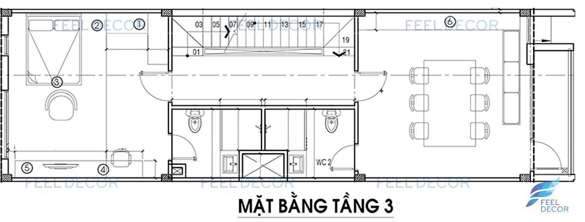 thiết kế thi công nội thất nhà phố Vạn Phúc