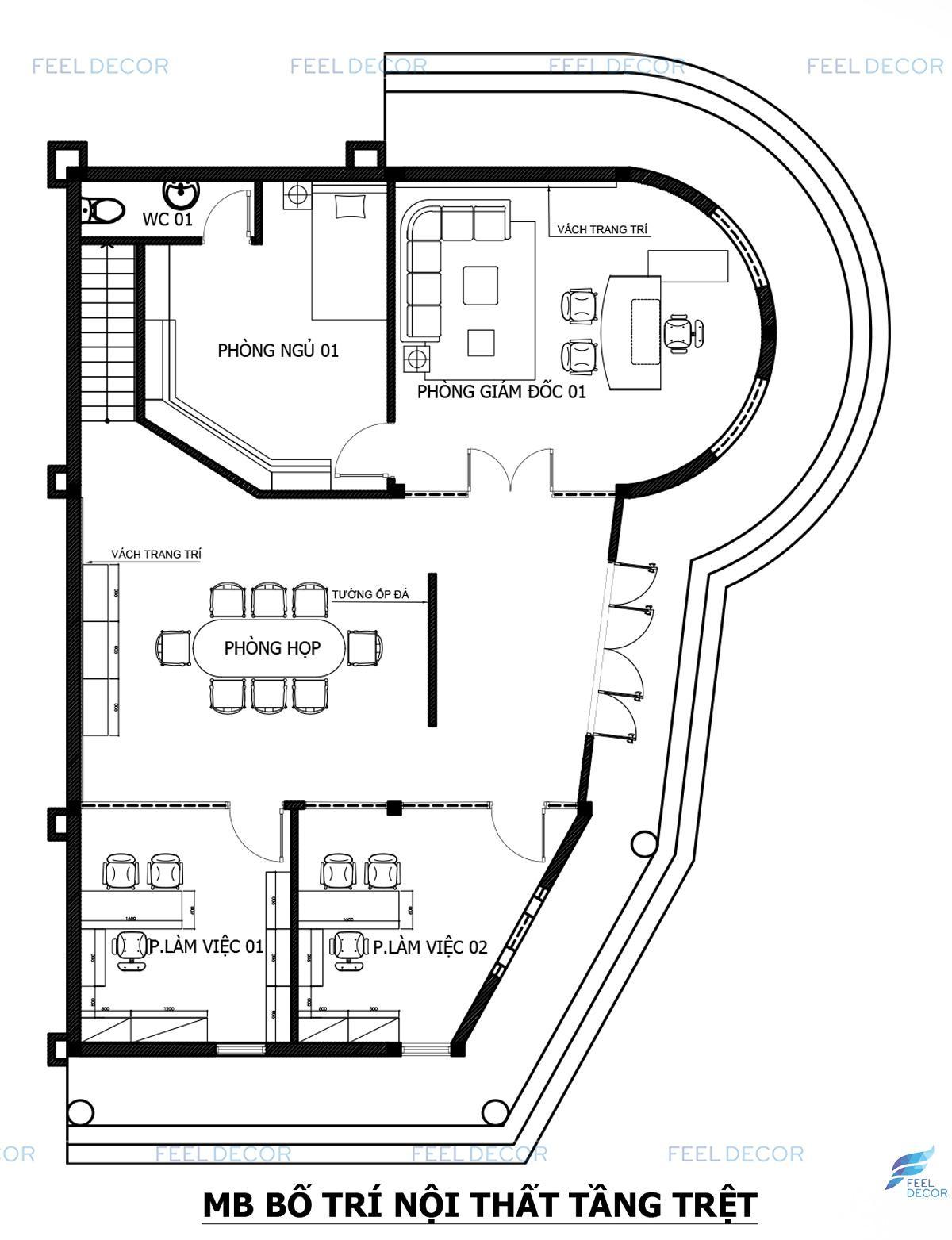 Thiết kế nội thất văn phòng KingShow