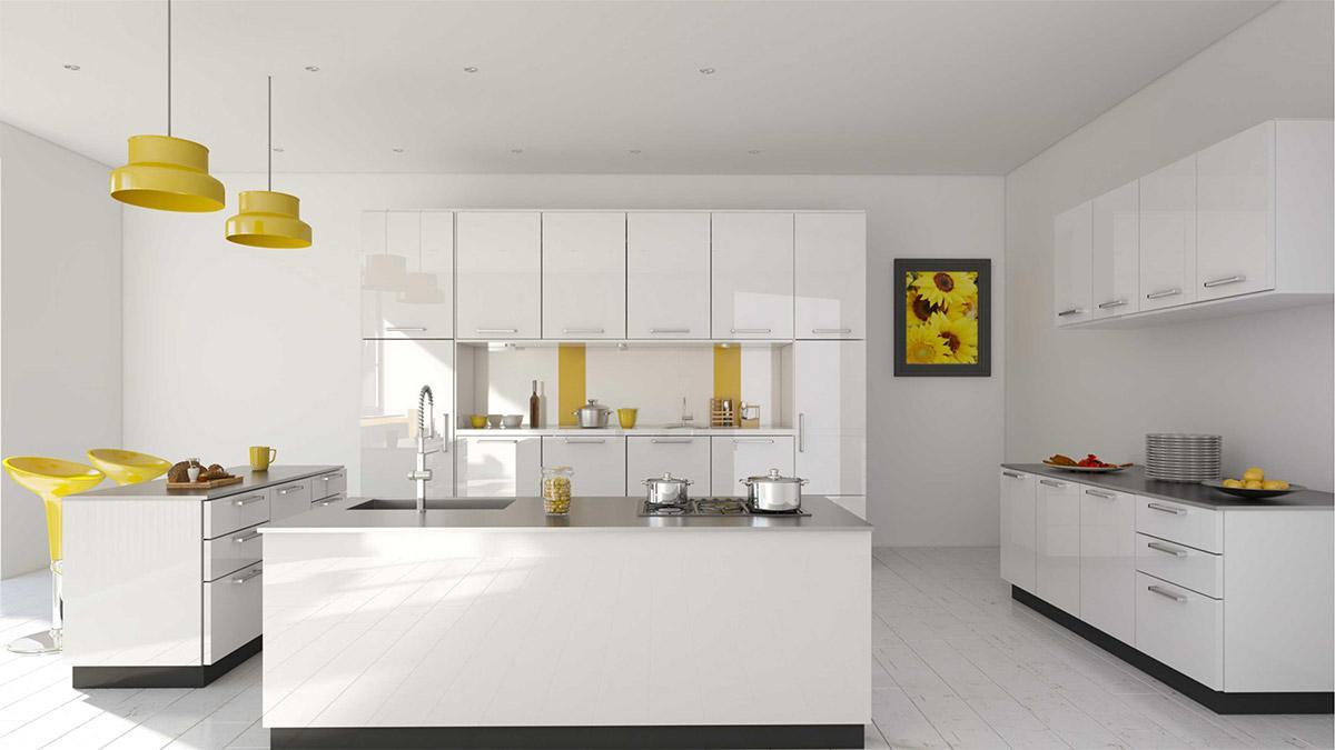 Vật liệu Acrylic làm tủ bếp