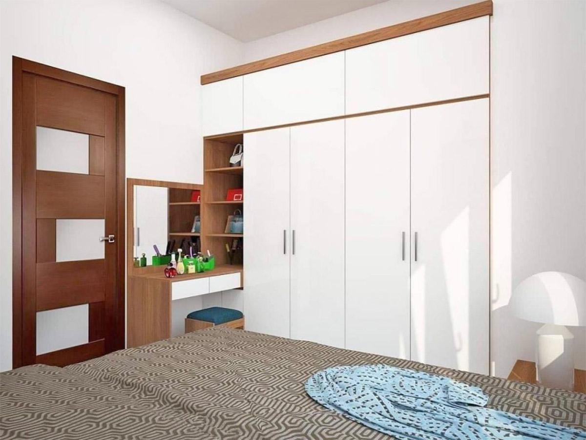 phòng ngủ sử dụng vật liệu acrylic