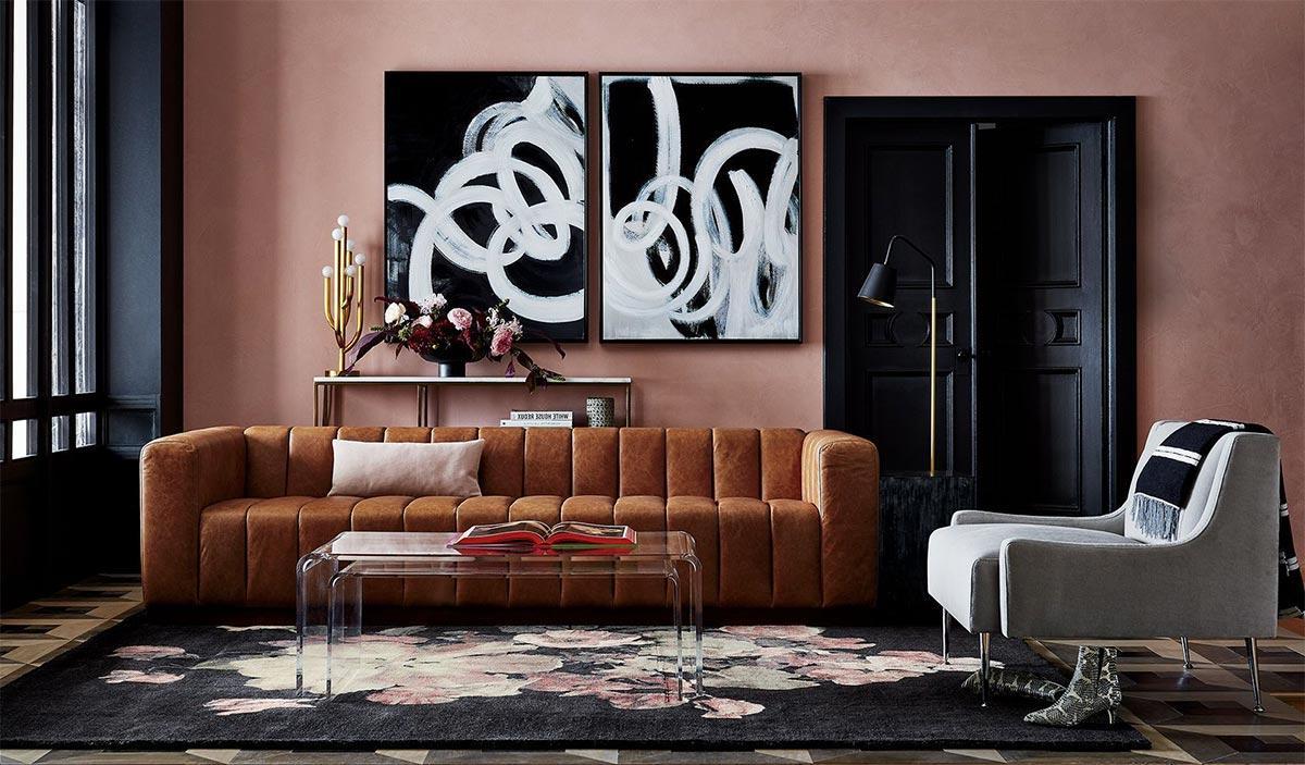 thiết kế nội thất với vật liệu acrylic