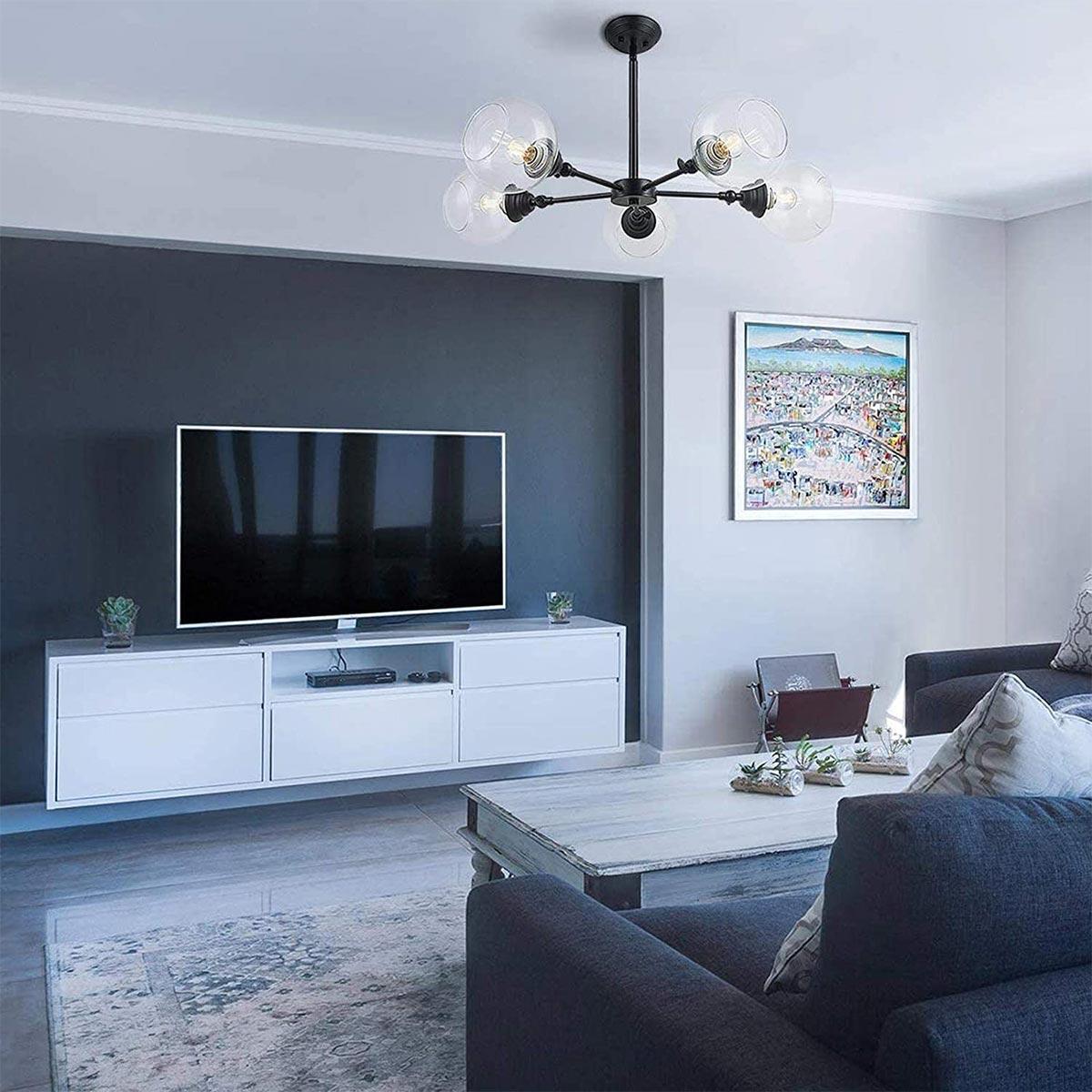 Phòng khách sử dụng acrylic