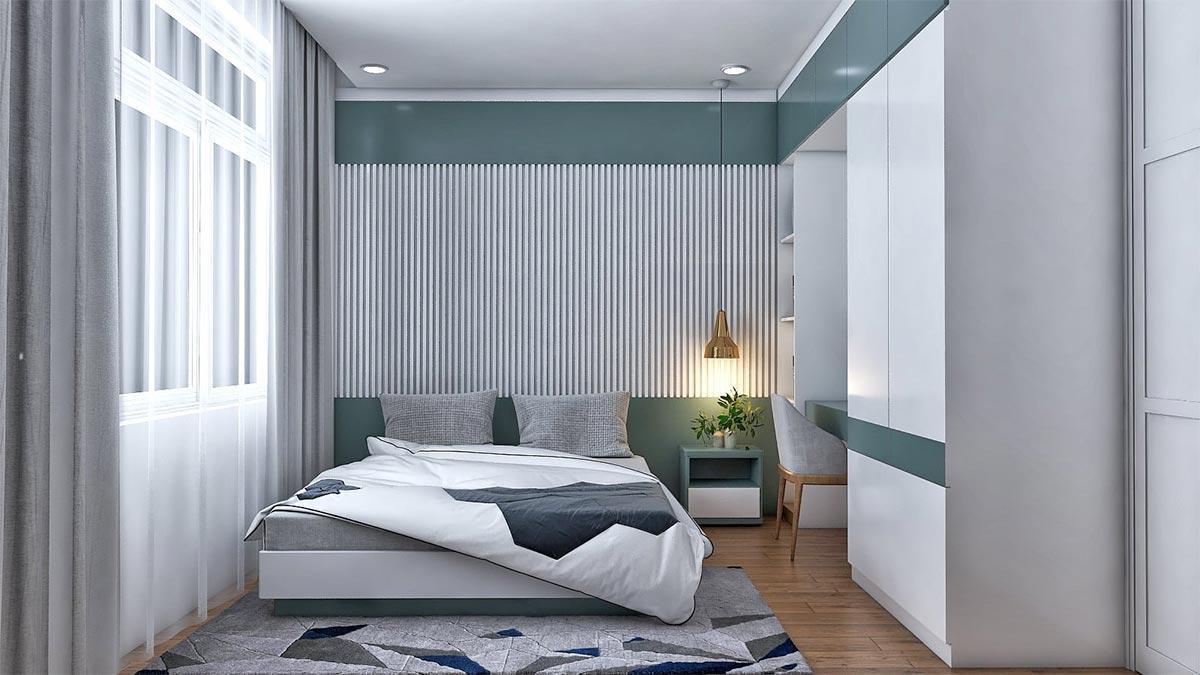 thiết kế phòng ngủ với vật liệu Acrylic