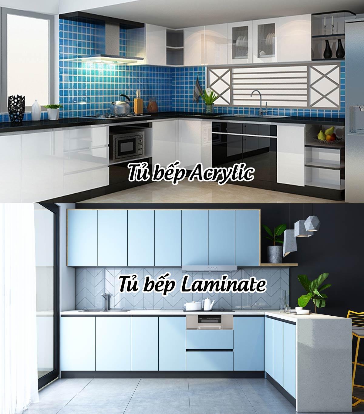 vật liệu Acrylic và laminate