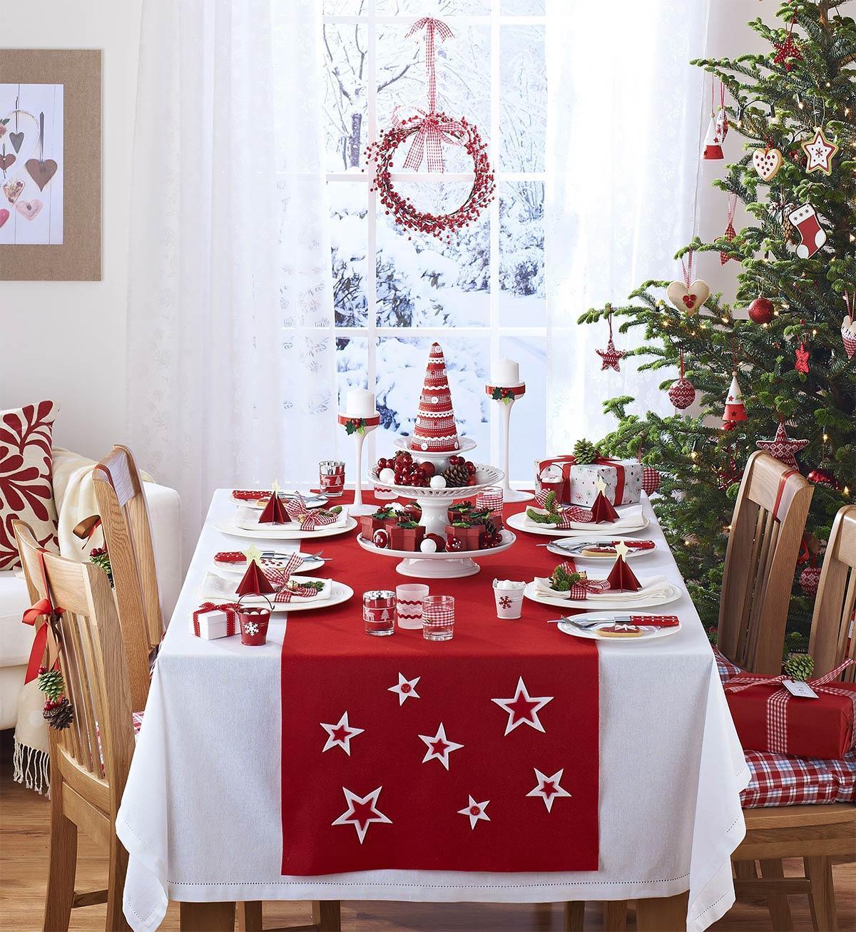 trang trí bàn ăn đêm giáng sinh