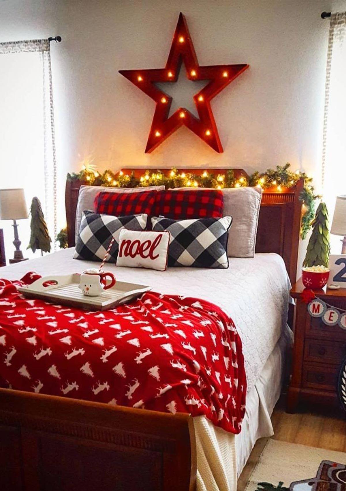 trang trí phòng ngủ đón giáng sinh