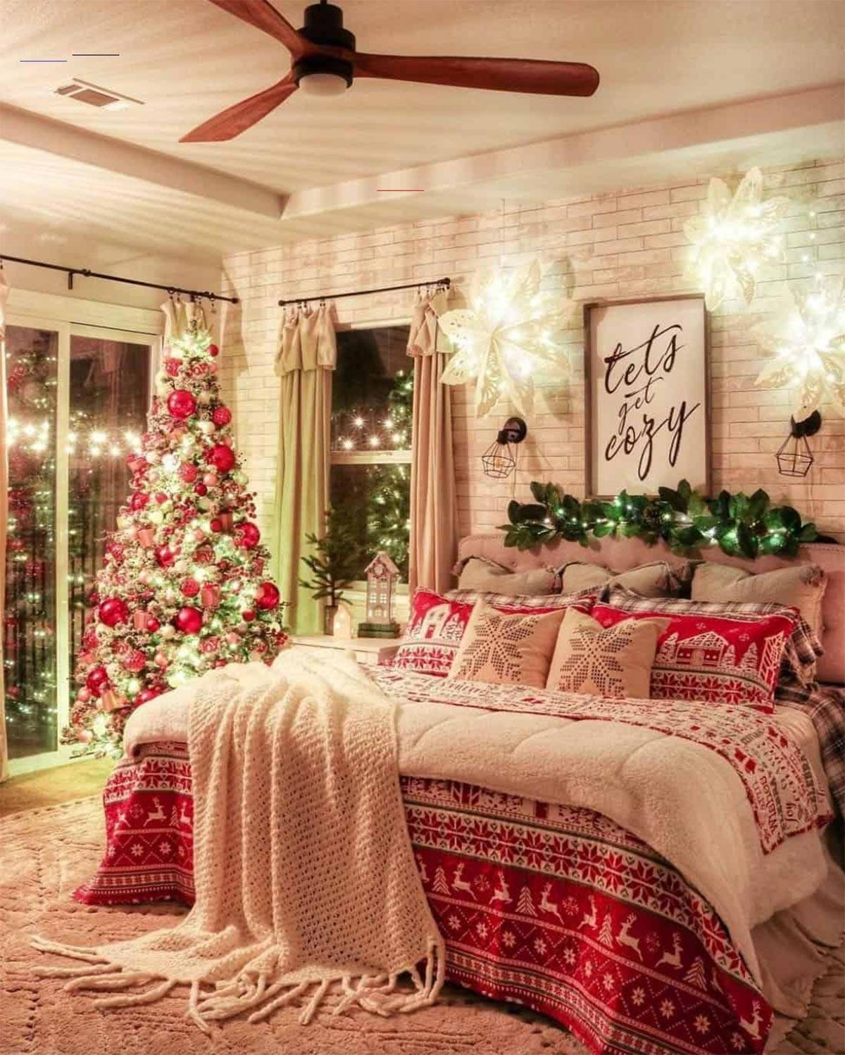 trang trí phòng ngủ chủ đề giáng sinh