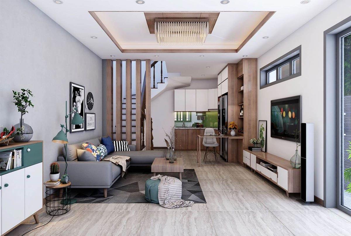 thiết kế phòng khách trong nhà phố
