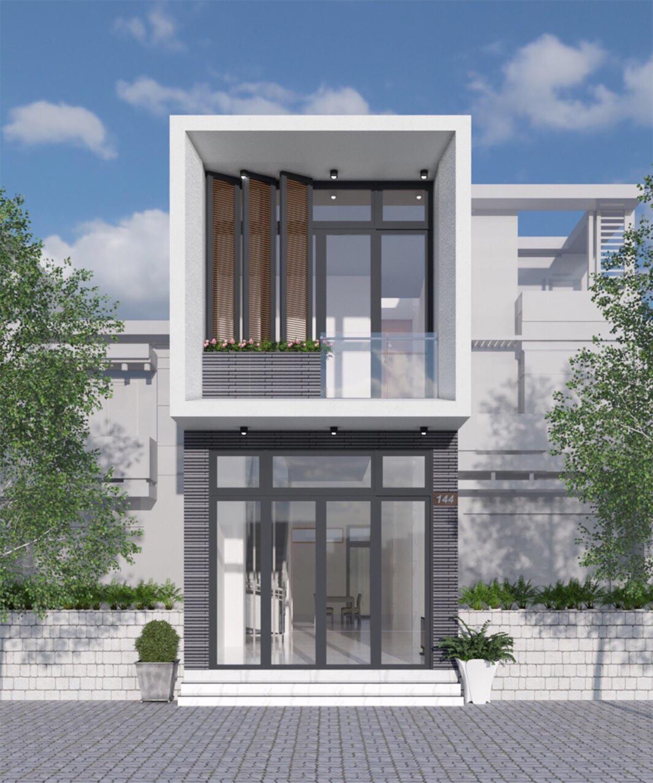 mẫu nhà phố đẹp nhất 2021