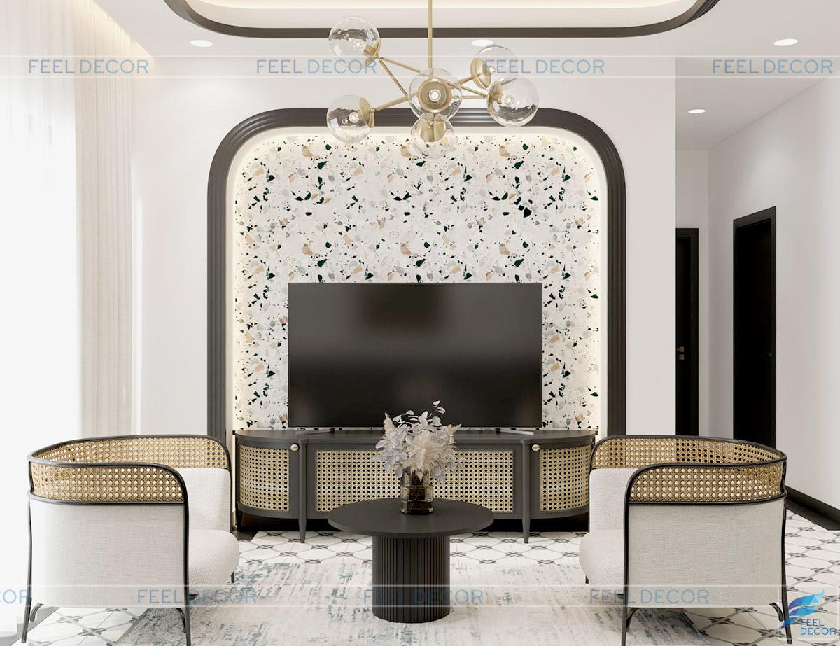 Thiết kế thi công nội thất căn hộ 81m2 chung cư one verandah
