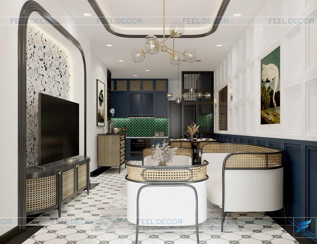 Thiết kế thi công nội thất căn hộ 81m2 2PN chung cư One Verandah