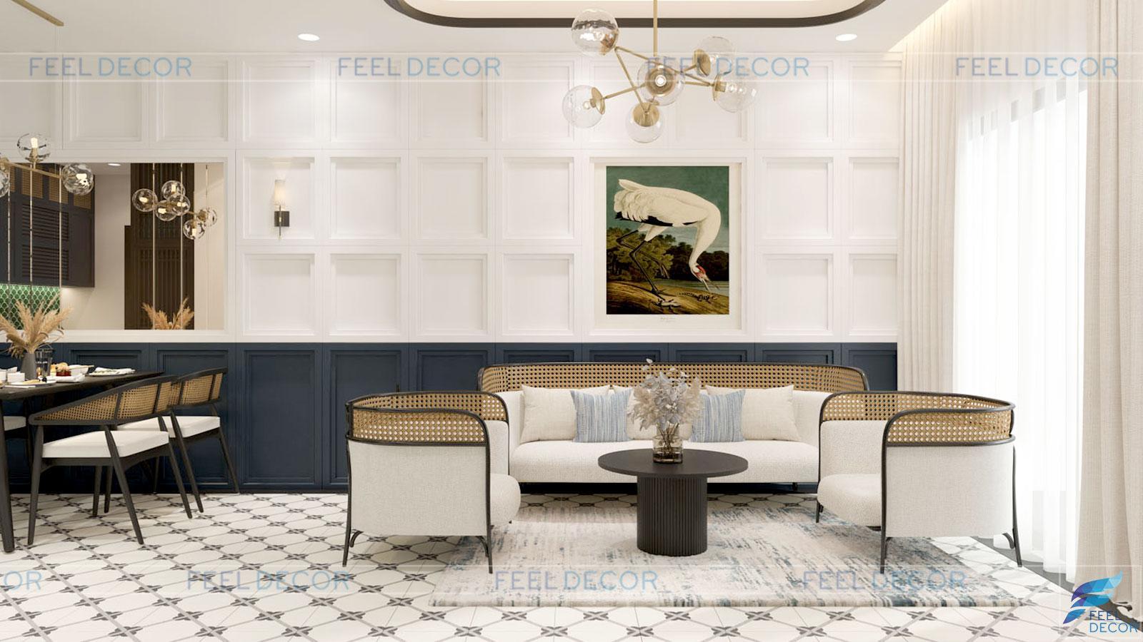 thiết kế thi công nội thất căn hộ 81m2 chung cư One Verabdah