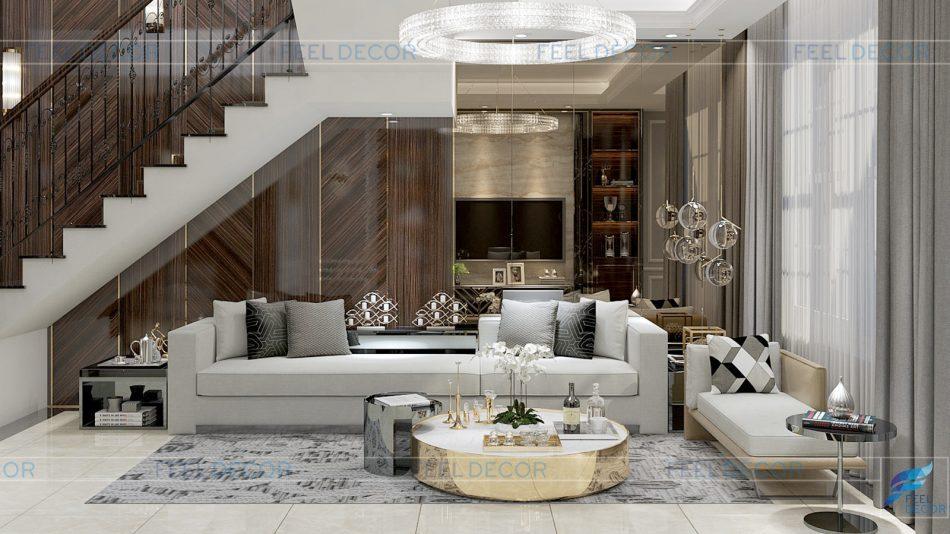 Thiết kế thi công nội thất nhà phố Vạn Phúc Riverside