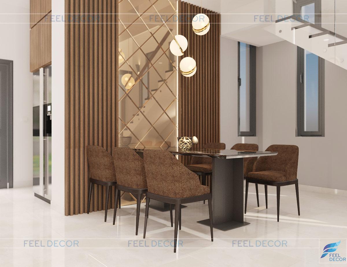 Thiết kế nội thất khu vực bàn ăn