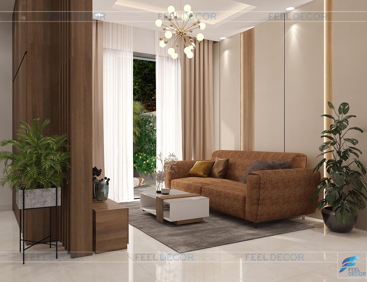 Thiết kế nội thất nhà phố quận 9 phòng khách