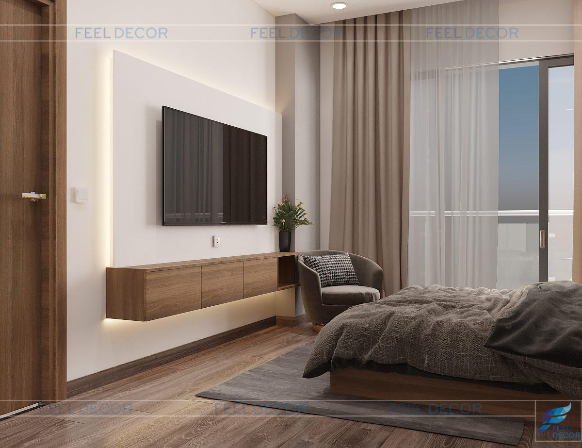Thiết kế kệ ti vi phòng ngủ 1