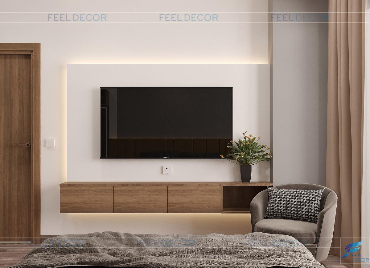 Nội thất phòng ngủ 1 kệ tivi