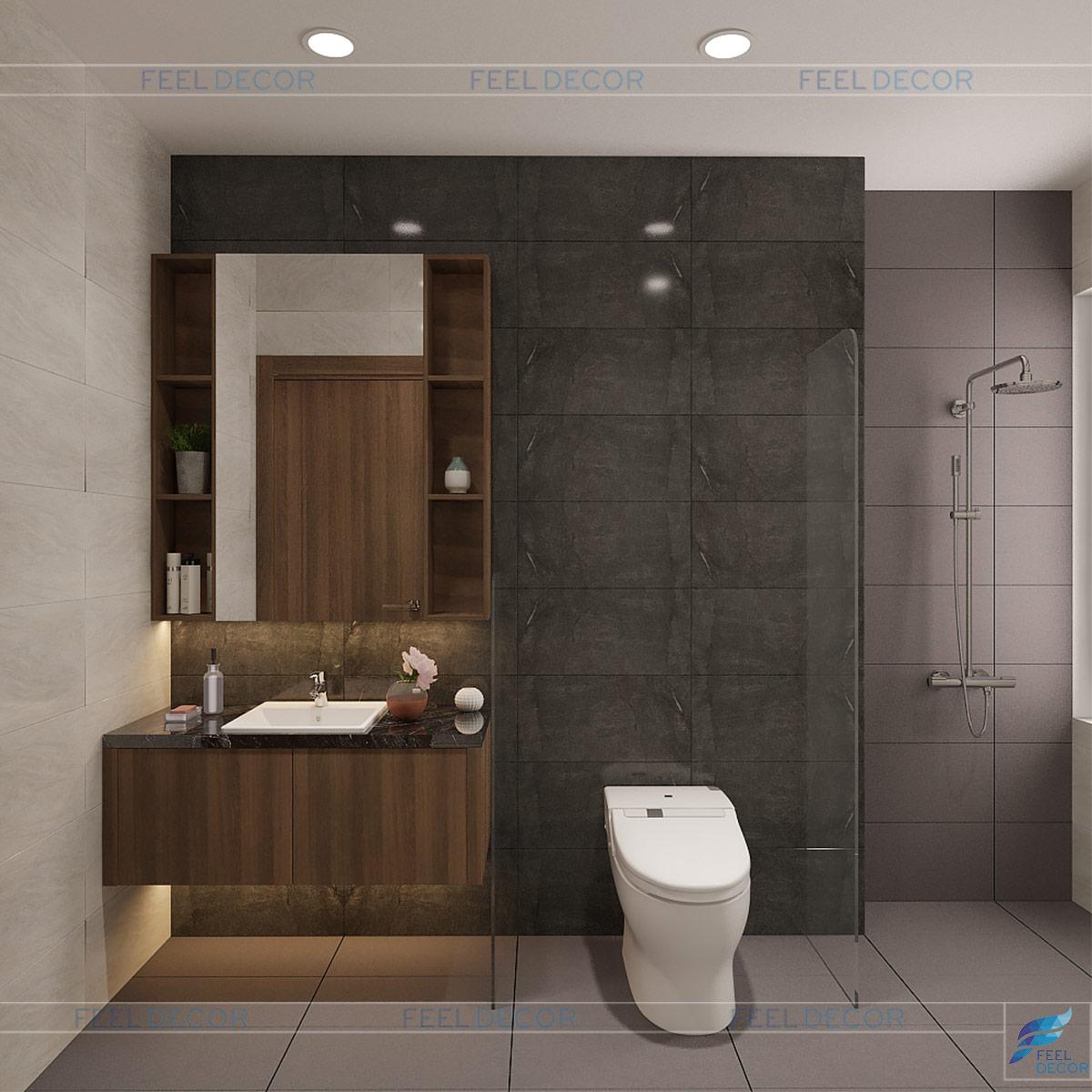 Thiết kế nội thất nhà vệ sinh PN1