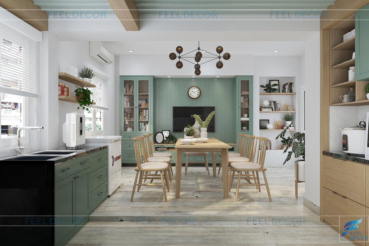 Thiết kế thi công nội thất khu bếp và phòng ăn
