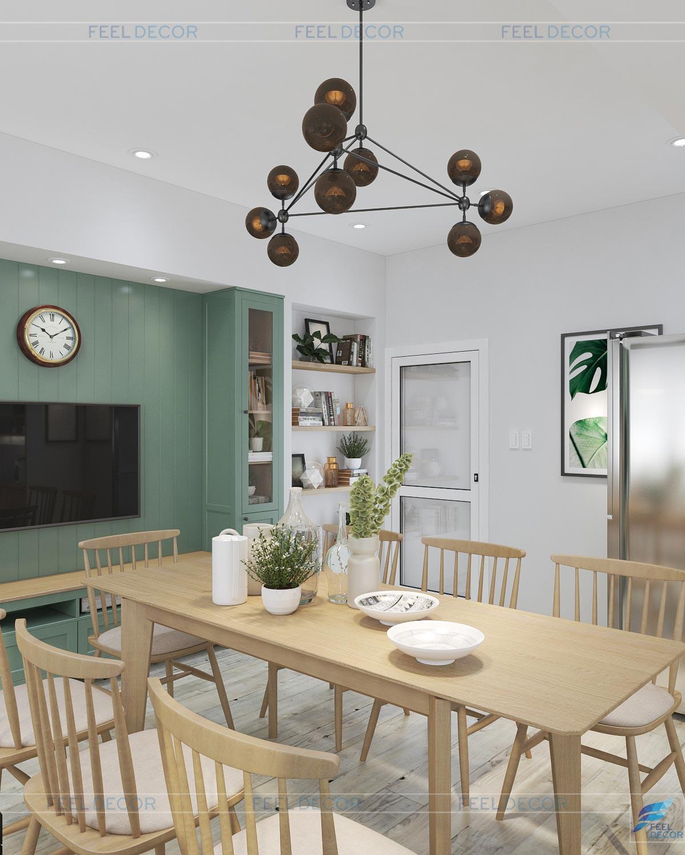 Thiết kế nội thất bàn ăn phòng bếp