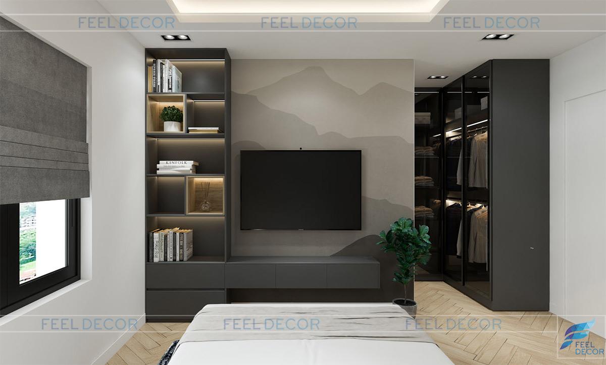 Thiết kế thi công nội thất nhà phố Lakeview chị Phụng phòng ngủ bé trai
