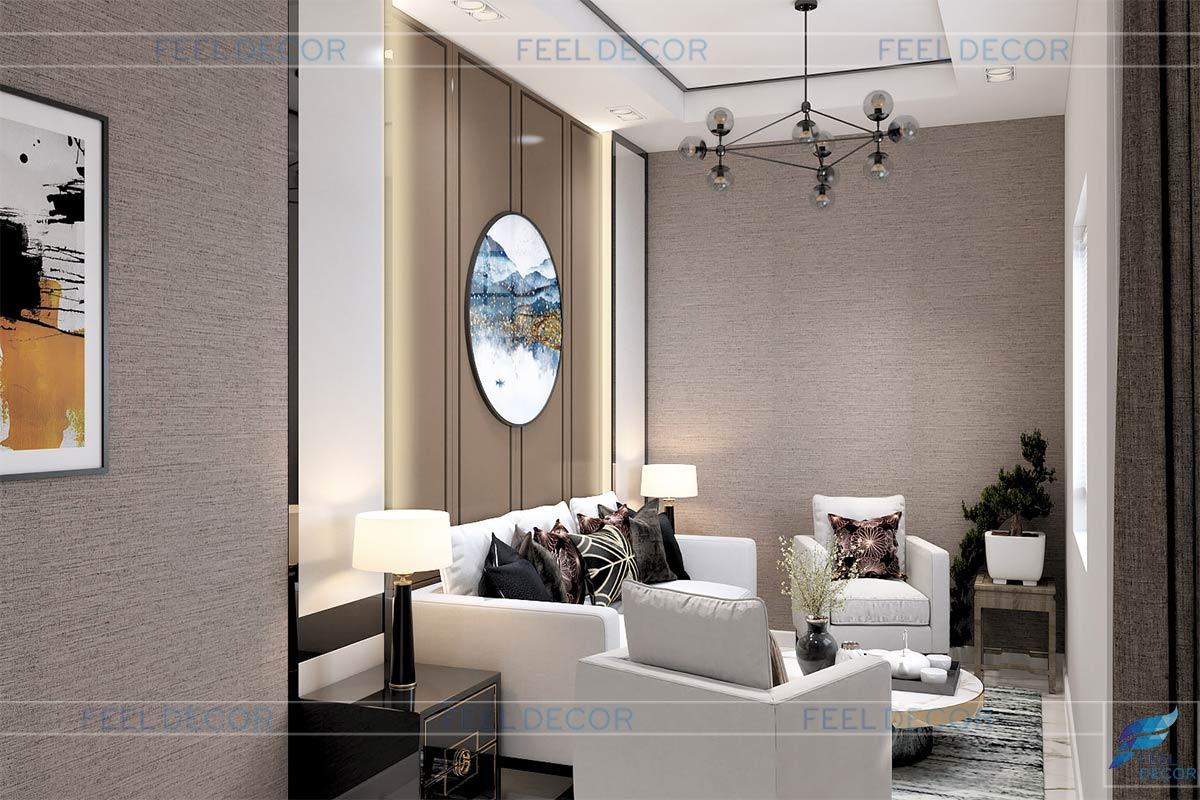 Thiết kế thi công nội thất nhà phố Lakeview chị Phụng