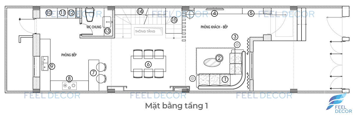 Thiết kế thi công nội thất nhà phố lakeview city chị phụng