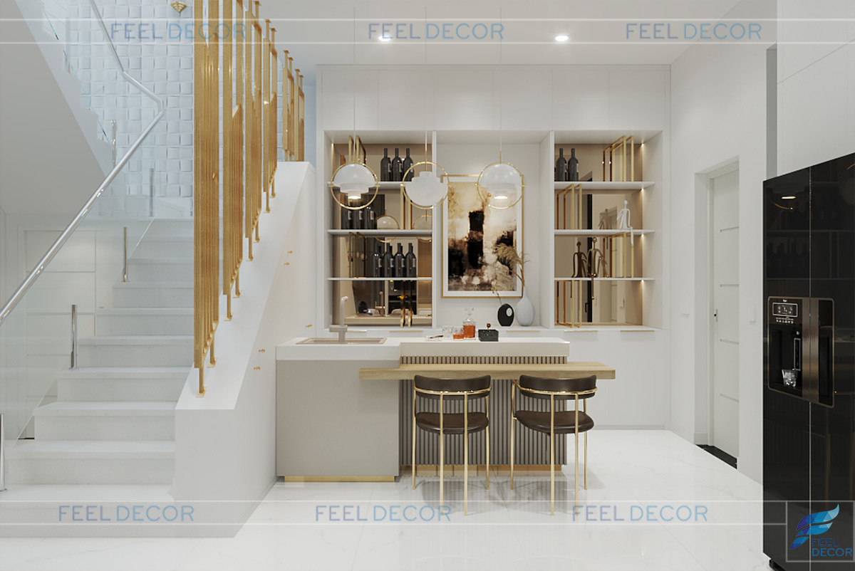 Thiết kế nội thất khu vực quầy bar