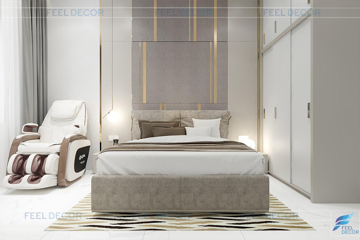 Thiết kế thi công nội thất biệt thư mini Rạch Giá phòng ngủ bà ngoại