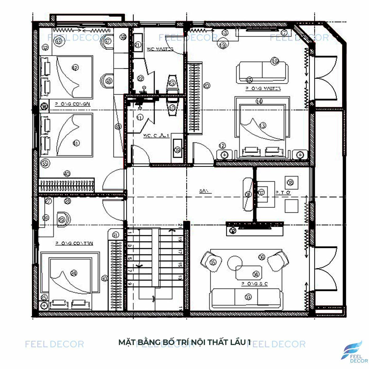 thiết kế thi công nội thất penthouse 236m2 rạch giá