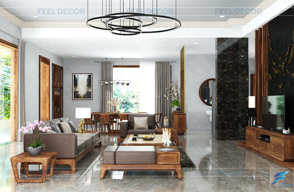 Thiết kế thi công nội thất biệt thự Thủ Đức - anh Quang
